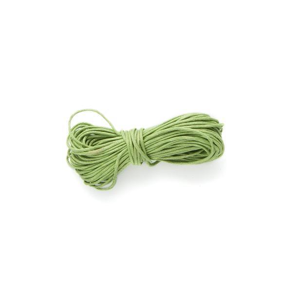Vaxad bomullstråd, mellangrön