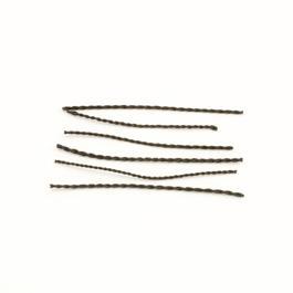 Skinnsnodd armbandsögla - svart